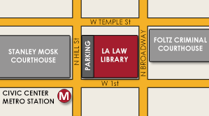 Map to the LA Law Library
